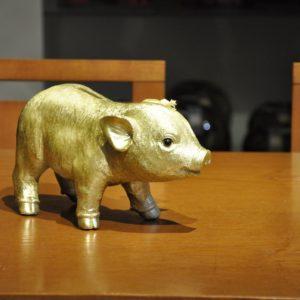 Glücks Sparschwein 26x10x15cm 24,90€