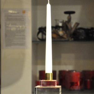 Kerzenleuchter Kristallglas 8x8cm ohneKerze 59,90€