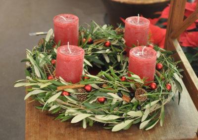 Adventskranz Olivenzweige
