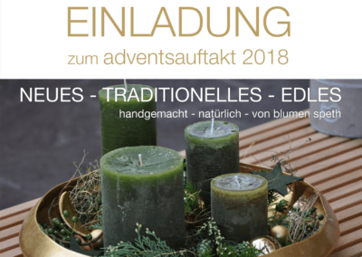 Blumen Speth Advents Einladung