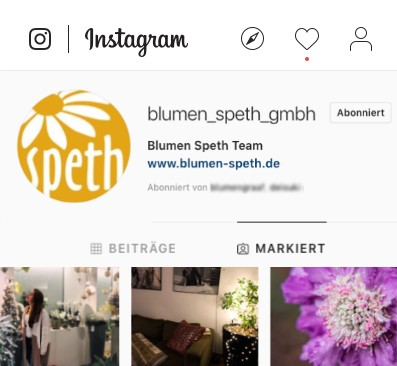 Blumen Speth Instagram