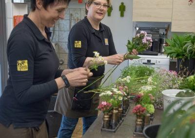 Floristen Bei Der Arbeit