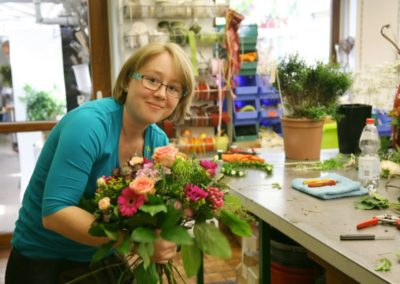 Floristin Bindet Strauss