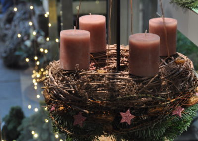 Haengender Kerzen Kranz