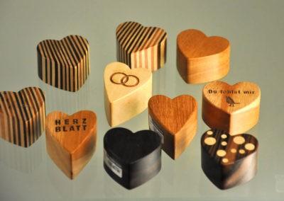 Holz Herzen Deko