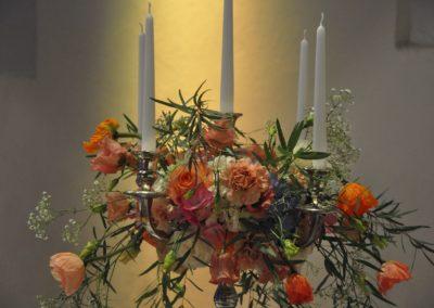 Kerzenleuchter Tischdeko Orange