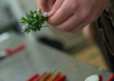 Kraenzchen Binden Floristin