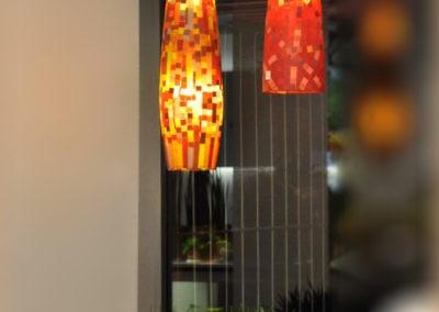 Lampen Orange Patchwork