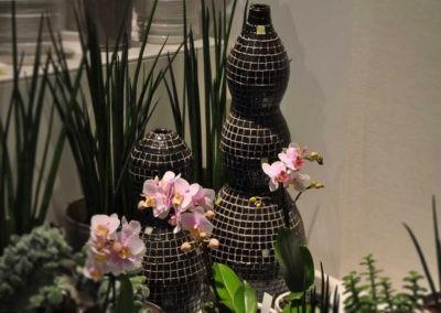 Orchideen Vase Schwarz