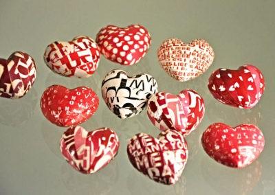 Rote Deko Herzen