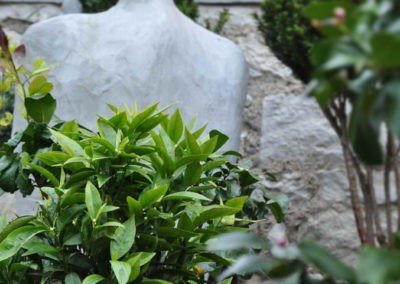 Zitronenbaum Statue